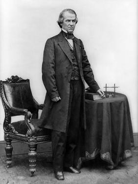 Andrew Johnson Full-Length Portrait, Civil War by Lantern Press