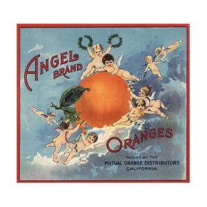 Angel Brand - California - Citrus Crate Label by Lantern Press