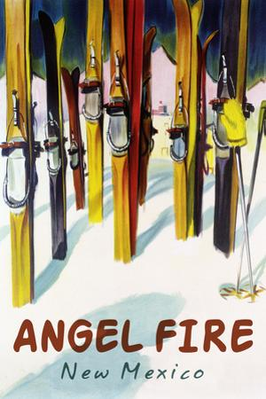 Angel Fire, New Mexico - Colorful Skis