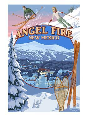 Angel Fire, New Mexico - Winter Scenes Montage by Lantern Press