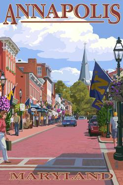 Annapolis, Maryland - Street View by Lantern Press