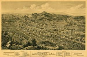 Anniston, Alabama - Panoramic Map by Lantern Press