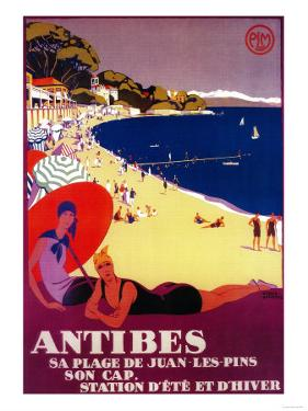Antibes Vintage Poster - Europe by Lantern Press