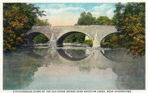 Antietam Creek, Maryland - Nat'l Road, Old Stone Bridge Near Hagerstown by Lantern Press