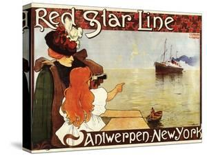 Antwerp, Belgium - Red Star Line Cruises to New York Promo Poster - Antwerp, Belgium by Lantern Press