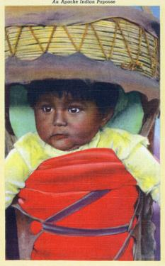 Apache Indian Baby in Papoose by Lantern Press