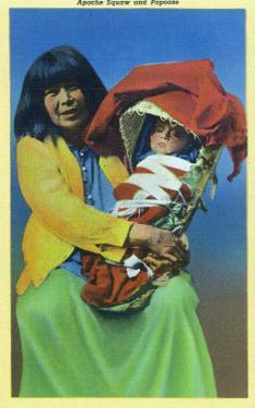 Apache Mother and Baby in Papoose by Lantern Press