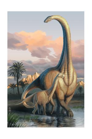 Apatosaurus Dinosaur by Lantern Press