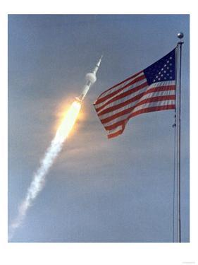 Apollo 11 Launch Photograph - Cape Canaveral, FL by Lantern Press