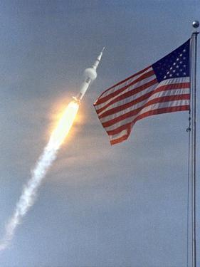 Apollo 11 Launch Photograph - Cape Canaveral, FL by Lantern Press