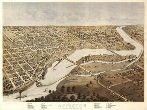 Appleton, Wisconsin - Panoramic Map by Lantern Press