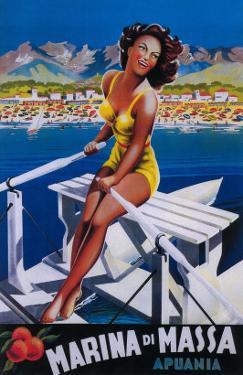 Apuania, Italy - Massa Marina Travel Poster by Lantern Press