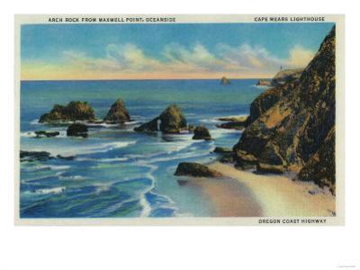 Arch Rock from Maxwell Point, Oceanside - Oregon Coast by Lantern Press