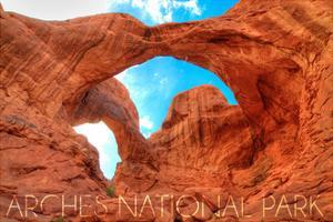 Arches National Park, Utah - Daytime Blue Sky by Lantern Press
