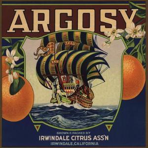 Argosy Brand - Irwindale, California - Citrus Crate Label by Lantern Press