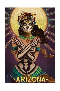 Arizona - Day of the Dead Crossbones by Lantern Press