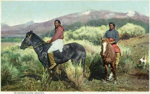 Arizona - Navajo Men on Horseback by Lantern Press