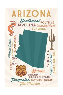 Arizona - Typography and Icons by Lantern Press