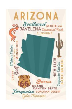 Arizona - Typography and Icons by Lantern Press