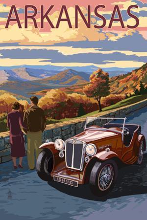 Arkansas - Outlook and Sunset Scene by Lantern Press