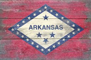 Arkansas State Flag - Barnwood Painting by Lantern Press