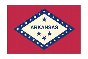 Arkansas State Flag by Lantern Press