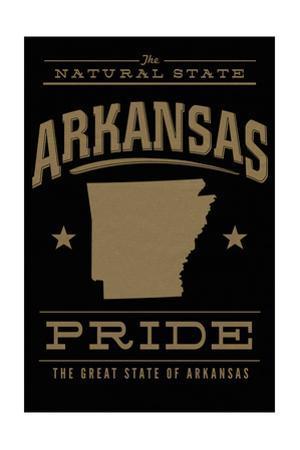 Arkansas State Pride - Gold on Black