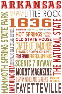 Arkansas - Typography by Lantern Press