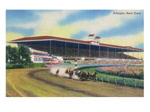 Arlington Heights, Illinois - Horse Race at Arlington Race Track by Lantern Press