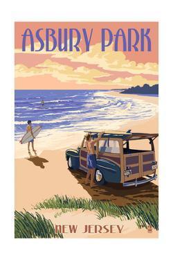 Asbury Park, New Jersey - Woody on the Beach by Lantern Press