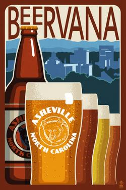 Asheville, North Carolina - Beervana by Lantern Press
