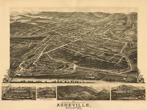 Asheville, North Carolina - Panoramic Map by Lantern Press