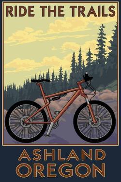 Ashland, Oregon - Ride the Trails by Lantern Press