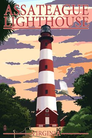 Assateague, Virginia - Lighthouse by Lantern Press
