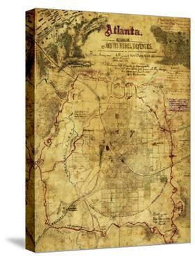 Atlanta Campaign - Civil War Panoramic Map by Lantern Press