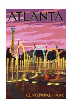 Atlanta, Georgia - Centennial Park by Lantern Press