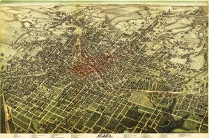 Atlanta, Georgia - Panoramic Map by Lantern Press