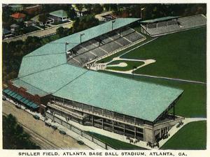 Atlanta, Georgia - Spiller Baseball Field Aerial View by Lantern Press