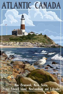 Atlantic Canada - Lighthouse by Lantern Press