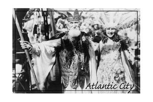 Atlantic City, New Jersey - Neptune and Miss America at Carnival - by Lantern Press