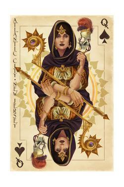 Atlantic City, New Jersey - Queen of Spades by Lantern Press