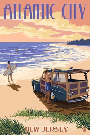 Atlantic City, New Jersey - Woody on the Beach by Lantern Press