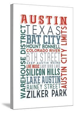 Austin, Texas - Typography by Lantern Press