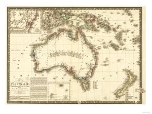 Australia - Panoramic Map by Lantern Press