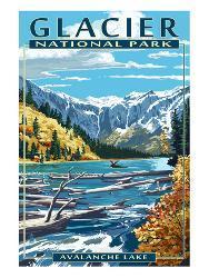 Avalanche Lake Glacier National Park Montana By Lantern Press