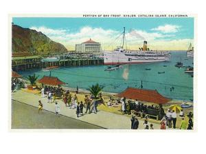 Avalon, California - Portion View of the Bay Front by Lantern Press