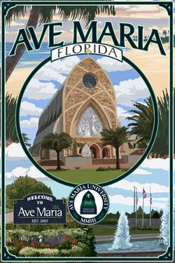 Ave Maria, Florida - Montage by Lantern Press