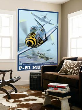 B-25 Bomber Escort Mission - P-51 Mustang, c.2008 by Lantern Press