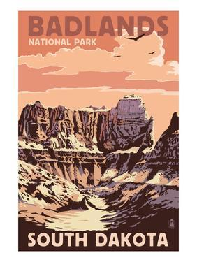 Badlands National Park, South Dakota - Castle Rock by Lantern Press