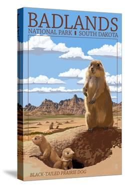 Badlands National Park, South Dakota - Prairie Dogs by Lantern Press